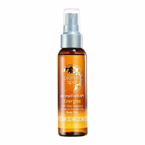 Aromatherapy Energise Body Mist Spray - Bergamot & Lemon - 100ml