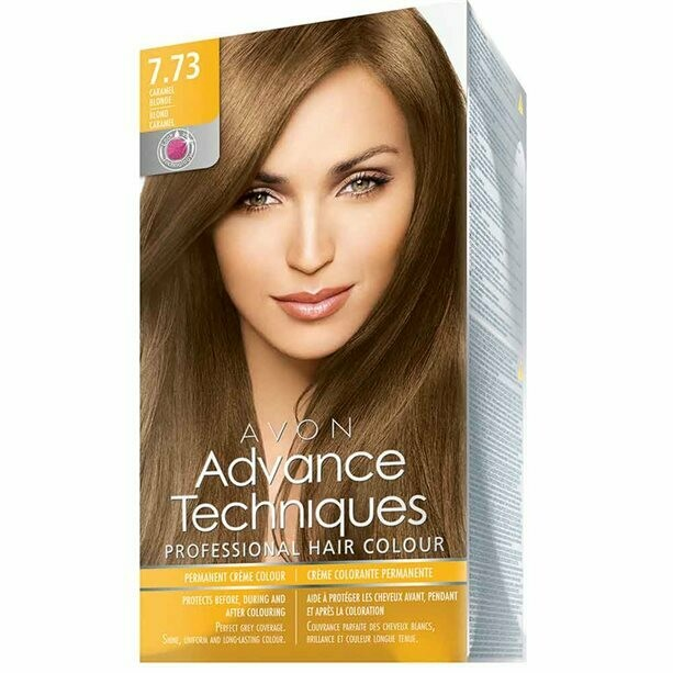 Permanent Hair Dye - Caramel Blonde 7.73