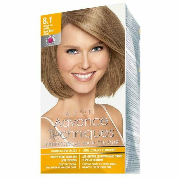 Permanent Hair Dye - Medium Ash Blonde 8.1