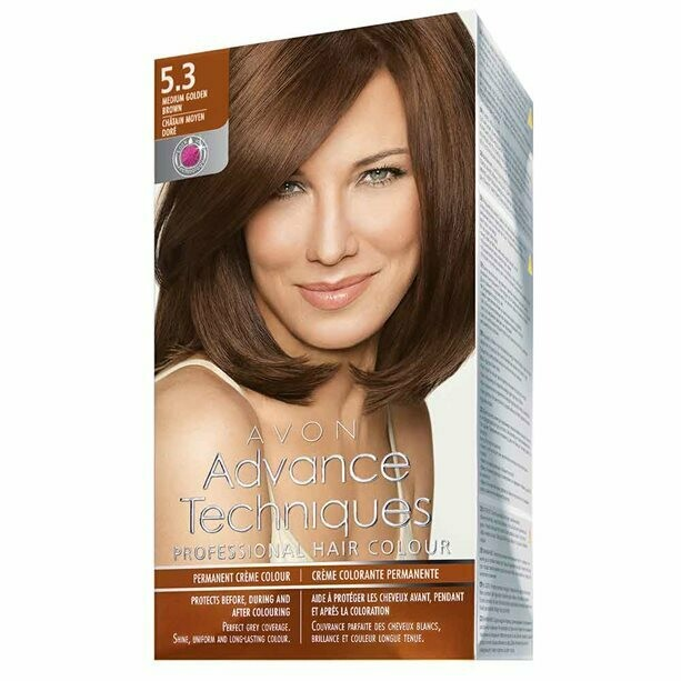 Permanent Hair Dye - Medium Golden Brown 5.3