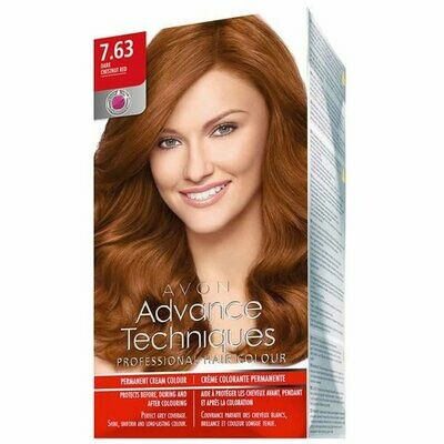 Permanent Hair Dye - Dark Chestnut Red 7.63
