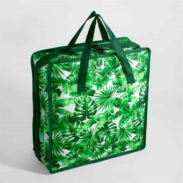 Tropical Leaves Shoe Storage Bag