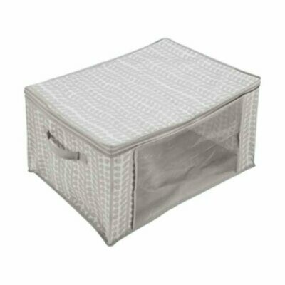 Jumbo Under-Bed Storage - Grey Leaf Print