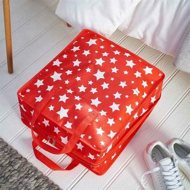 Red Star Shoe Storage Case