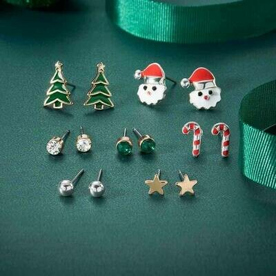 7 Piece Christmas Earring Gift Set