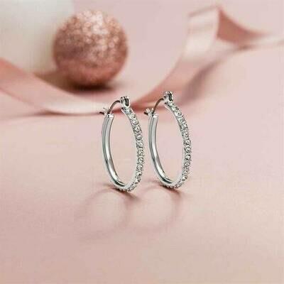 Katie Hoop Earrings with Swarovski® Crystals