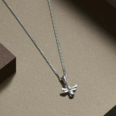 Sterling Silver-plated Leighton Bee Necklace