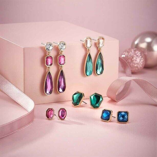 5 Piece Gold Tone Earring Gift Set