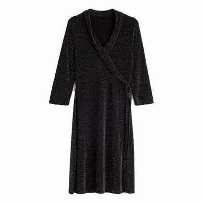 Tuxedo Wrap Dress