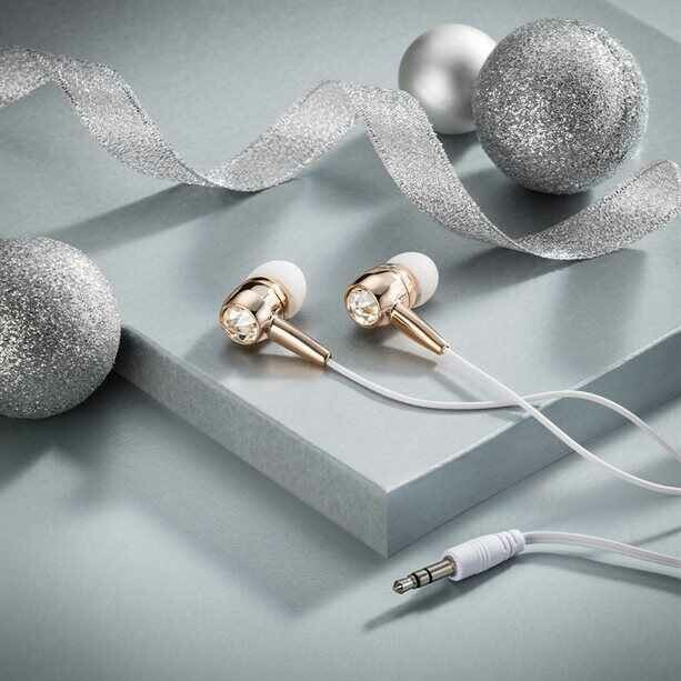 Sparkling Earphones Embellished with crystals by Swarovski®