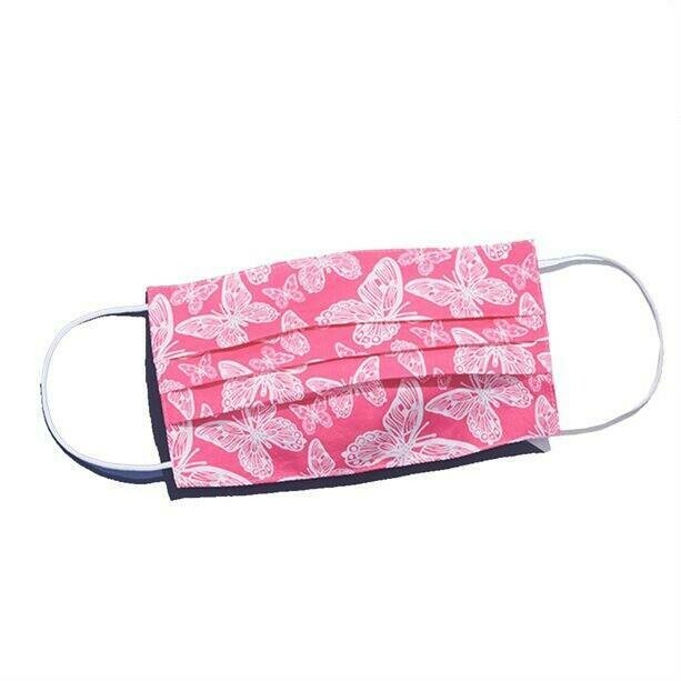 Pink Butterfly Reusable Fashion Face Mask