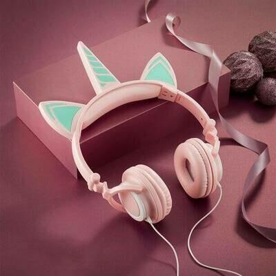 Caticorn Light-Up LED Headphones
