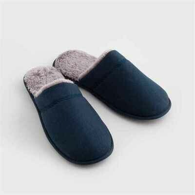 Navy Slipper Mules
