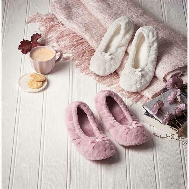 Faux-Fur Non-Slip Slipper Socks
