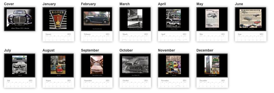 Standard Personalised Calendar