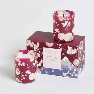 Sakura Noir Votive 2 Piece Gift Boxed Candle Set - 140g
