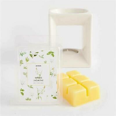 Pack of 6 White Jasmine Wax Melts - 420g