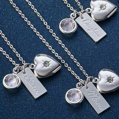 Silver-plated Clara Charm Necklace