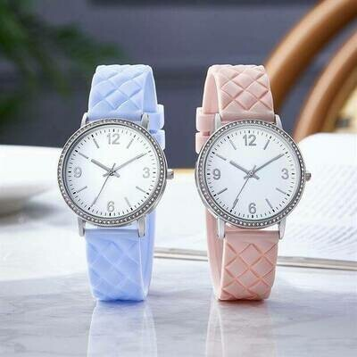 Violette Silicon Strap Watch
