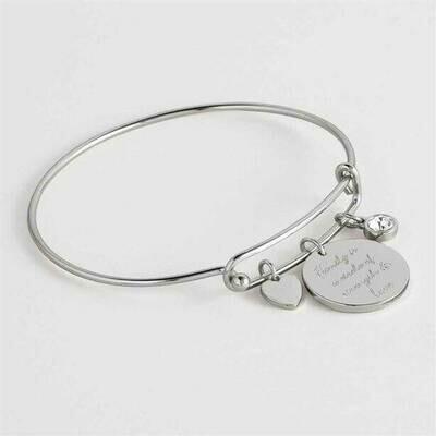 Silver-plated Natalie Charm Bracelet