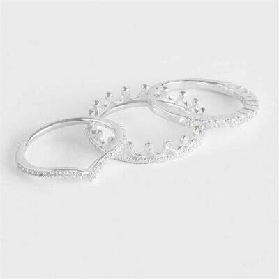 Sterling Silver-plated Stacking Ring
