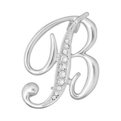 Initial Brooch Embellished with Crystals from Swarovski®