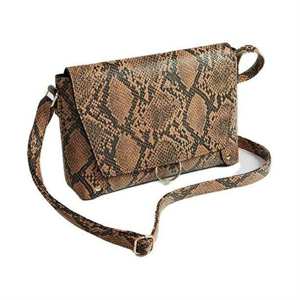 Snake-Print Cross-Body Bag