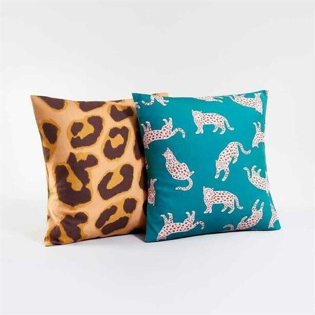 Leopard-Print Cushion Cover