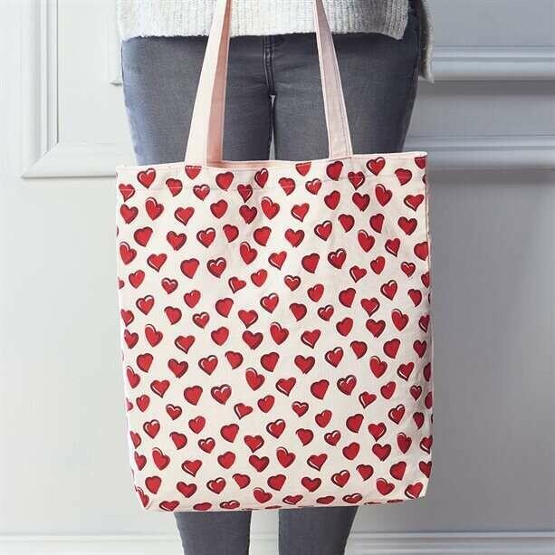 Heart Canvas Shopper Bag
