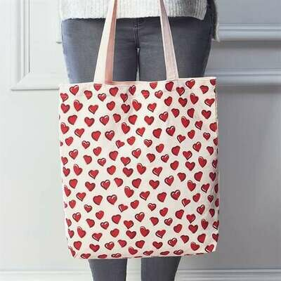 Heart Canvas Shopper Bag
