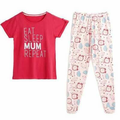 Eat Sleep Mum Repeat PJs