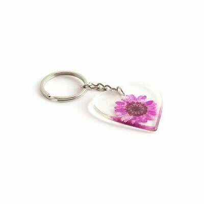 Pressed Flower Keyring