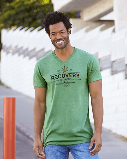Men's V-Neck Tee Shirt - Recovery Botanicals