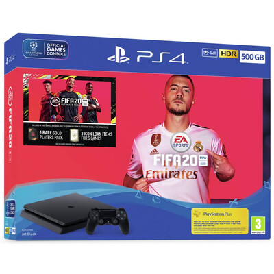 Sony PS4 500GB Console and FIFA 20 Edition