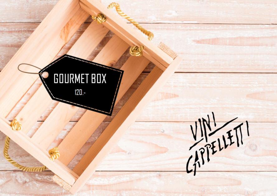 Schlemmer Geschenkbox mit Wein