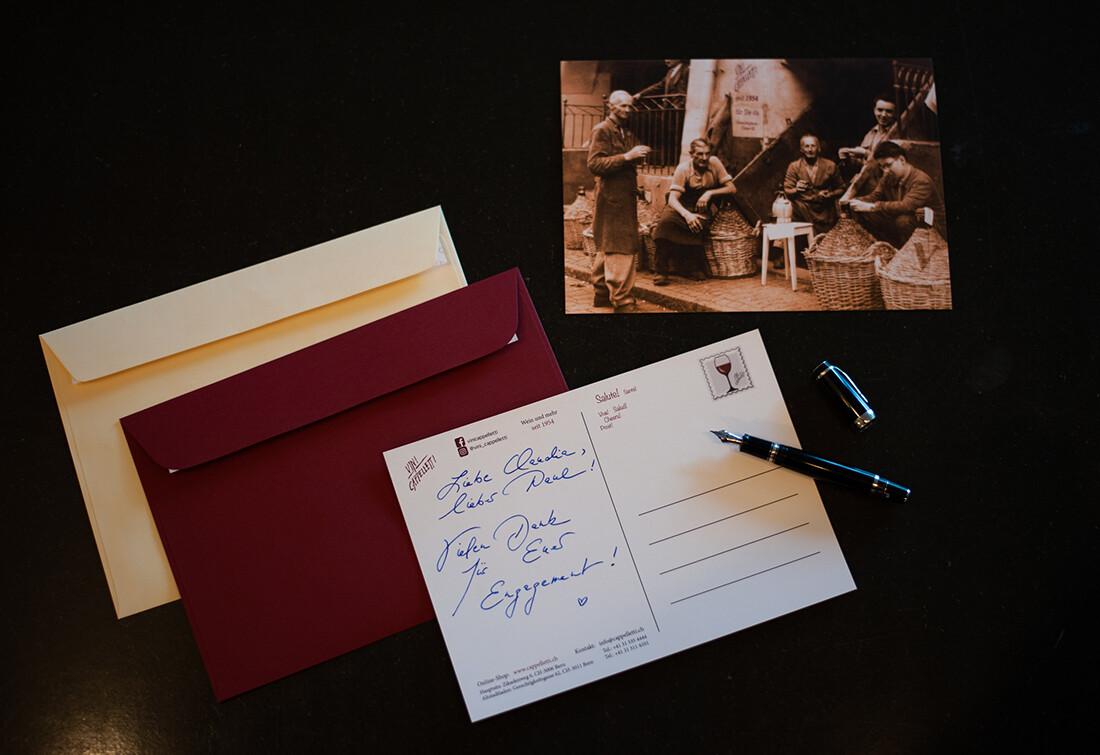 Edle Postkarte mit Kuvert