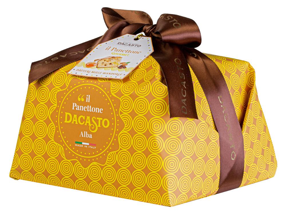 Panettone mit Datteln, Honig & Mandeln