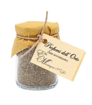 Aromatisiertes Salz mit 5 Gartenkräutern
