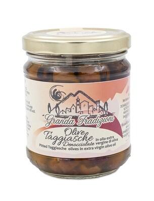 Olive Nere Taggiasche Denocciolate in Olio Extra Vergine