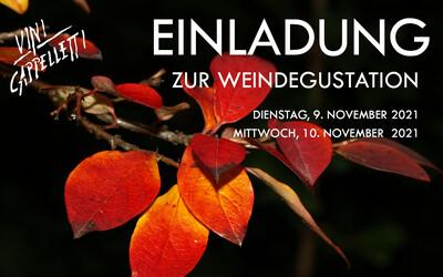 HERBST WEINDEGUSTATION Dienstag, 9. November 2021 Zeitfenster 1 von 16.30-19.00 Zikadenweg 6 in 3006 Bern