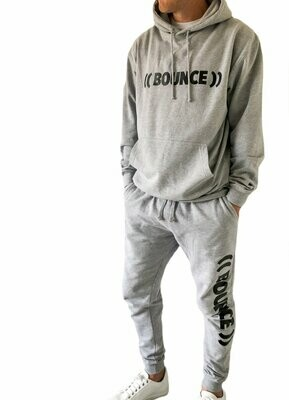 Tapered Jogging Bottoms, Unisex - Grey & Black