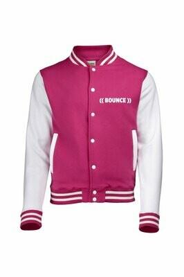 Kids Varsity Jacket - Pink & White