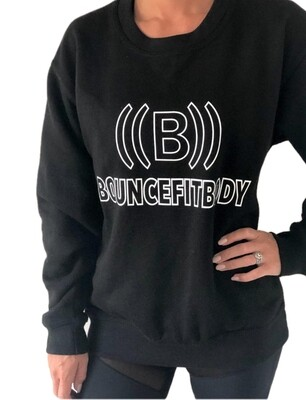 Sweatshirt - Black with white outline front