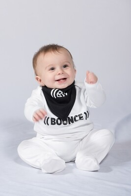 Baby Bib, Reversible Bandana - Black & White