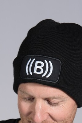 Beanie Hat - Black & White