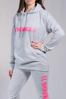 Hoodie - Grey & Pink