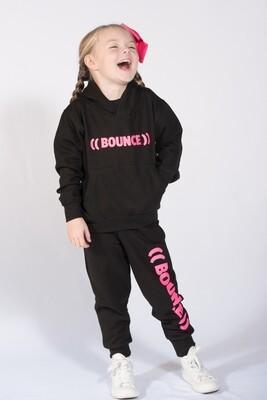 Kids Hoodie - Black & Pink