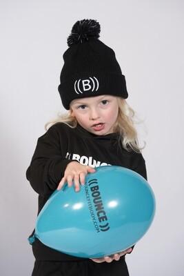 Kids Bobble Hat - Black & White