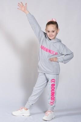 Kids Hoodie - Grey & Pink