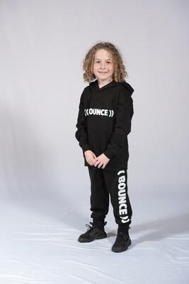 Kids Tapered Joggers - Black & White